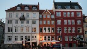 Appartamenti danesi con i tetti unici Fotografia Stock