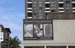Appartamenti del palazzo, St. Louis, Missouri Fotografia Stock