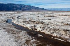 Appartamenti del sale in Death Valley Fotografie Stock