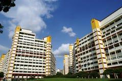 Appartamenti dell'alloggiamento di Singapore Immagine Stock