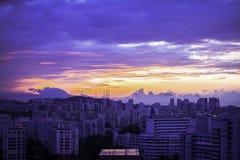 Appartamenti dell'alloggio di Singapore di mattina Immagine Stock