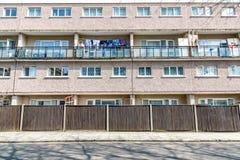 Appartamenti dell'edilizia economica e popolare a Londra orientale Fotografie Stock Libere da Diritti
