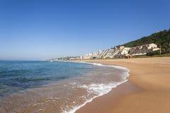 Appartamenti dell'oceano della spiaggia Fotografia Stock