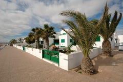 Appartamenti di festa della spiaggia fotografia stock