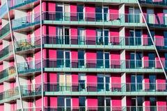 Appartamenti di Puprple del blocco Immagini Stock