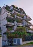 Appartamenti di Rimini Italia di architettura con le piante immagini stock