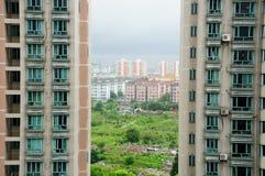 Appartamenti di Shanghai Cina immagine stock