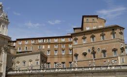 Appartamenti di Vatican dalla plaza Fotografia Stock