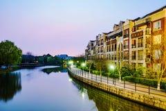 Appartamenti inglesi di stile a Shanghai fotografie stock libere da diritti