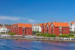 Appartamenti norvegesi tipici Fotografia Stock