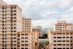 Appartamenti residenziali dell'alloggio a Singapore Immagini Stock