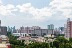 Appartamenti tradizionali di Singapore, Camera di Singapore il giorno soleggiato a Immagine Stock Libera da Diritti