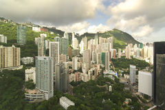 Appartamenti in un grattacielo di Hong Kong Fotografie Stock
