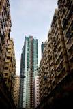 Appartamento ad alta densità dell'alloggio di Hong Kong Fotografia Stock