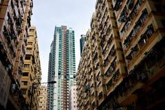 Appartamento ad alta densità dell'alloggio di Hong Kong Immagine Stock