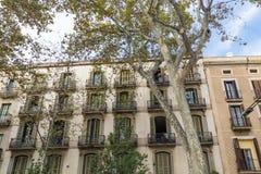 Appartamento Balconied a Barcellona immagine stock