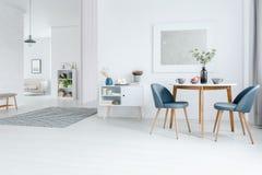 Appartamento bianco dello spazio aperto fotografie stock