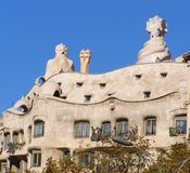 Appartamento Costruzione-Barcellona di Pedrera Gaudi della La Immagini Stock Libere da Diritti