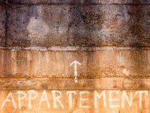 Appartamento di parola Immagini Stock