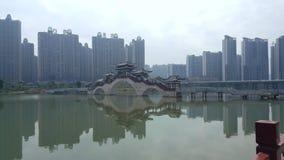 Appartamento di vista del lago in parchi centrali fotografia stock libera da diritti