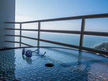 Appartamento di vista del mare Fotografie Stock