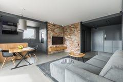 Appartamento grigio e bianco fotografia stock libera da diritti