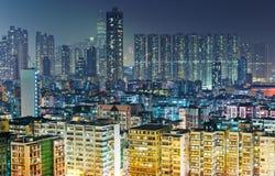 Appartamento imballato in Hong Kong Immagini Stock