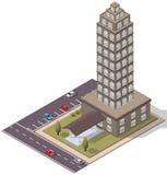 Appartamento isometrico degli appartamenti di vettore Immagini Stock