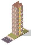 Appartamento isometrico degli appartamenti di vettore Fotografie Stock Libere da Diritti