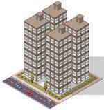 Appartamento isometrico degli appartamenti di vettore Fotografia Stock Libera da Diritti