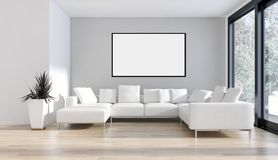 Appartamento luminoso moderno degli interni con la struttura 3D del manifesto del modello con riferimento a royalty illustrazione gratis