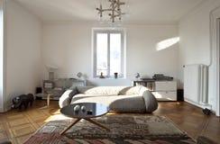 Appartamento piacevole riparato, salone Immagini Stock