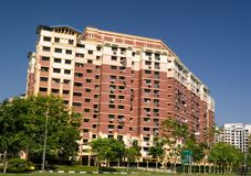 Appartamento residenziale dell'alloggiamento a Singapore Immagini Stock