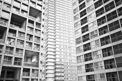 Appartamento residenziale di alto aumento Fotografie Stock Libere da Diritti