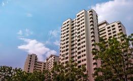 Appartamento residenziale pubblico dell'alloggio di Singapore in Bukit Panjang Immagini Stock