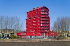 Appartamento rosso Fotografia Stock