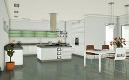 Appartamento skandinavian luminoso moderno di interior design Immagini Stock Libere da Diritti