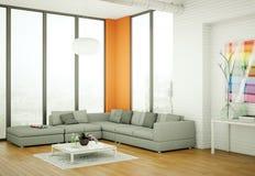 Appartamento skandinavian luminoso moderno di interior design Immagine Stock Libera da Diritti