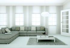 Appartamento skandinavian luminoso moderno di interior design Fotografie Stock