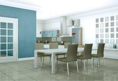 Appartamento skandinavian luminoso moderno di interior design Fotografia Stock