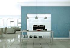 Appartamento skandinavian luminoso moderno di interior design Fotografie Stock Libere da Diritti