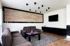 Appartamento urbano - salone moderno Fotografia Stock