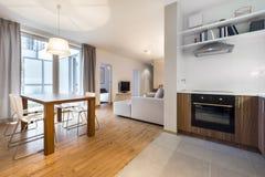 Appartamento vivente moderno immagine stock