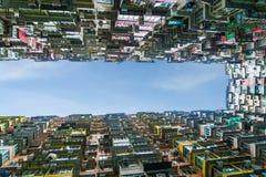 Appartement coloré dans la porcelaine de Hong Kong de baie de carrière Image libre de droits