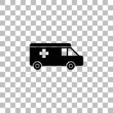 Appartement d'ic?ne d'ambulance illustration stock