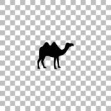 Appartement d'ic?ne de chameau illustration stock