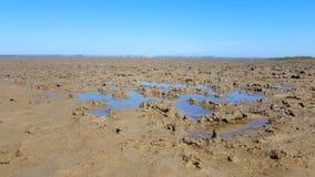 Appartement de boue par marée basse Ebbe photographie stock
