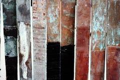 Appartement de cuivre de corrosion image stock