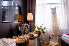 Appartement de jeunes mariées Photo stock