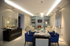 Appartement de luxe Photographie stock